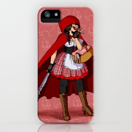 Serial Killer Red Riding Hood iPhone Case