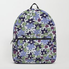 Violets Are Blue floral print Backpack