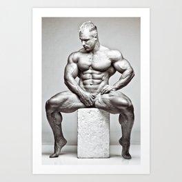 """""""Seated Nude"""" (001) Art Print"""