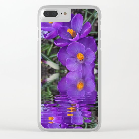 Crocus Reflections Clear iPhone Case