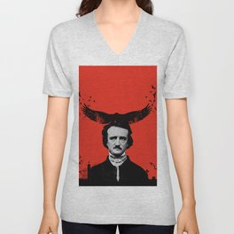 Edgar Allan Poe / Raven / Digital Painting Unisex V-Neck