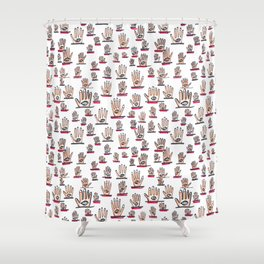 Eyes in Hand Shower Curtain