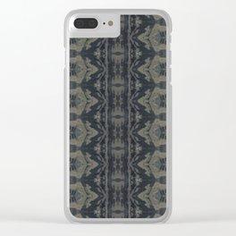 Moody Shibori Clear iPhone Case