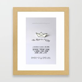 The River is Moving - POSTER Framed Art Print