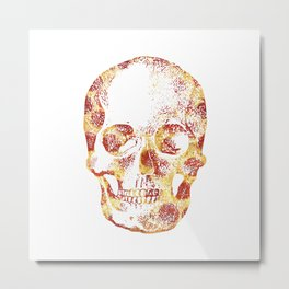 Pepperoni Head Metal Print