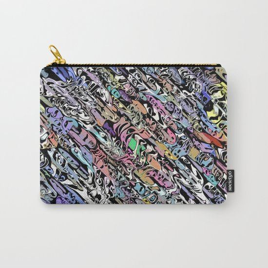 Chaotic Colorful Shapes Carry-All Pouch
