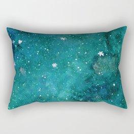 Watercolor galaxy - teal Rectangular Pillow