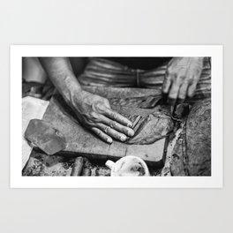 The Pull Art Print