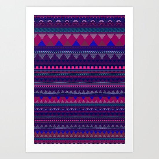 KNITTED AZTEC PATTERN  Art Print