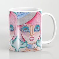 poker Mugs featuring poker face by Scenccentric Creations