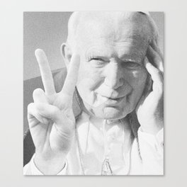 Pope John Peace'n'Love  Canvas Print