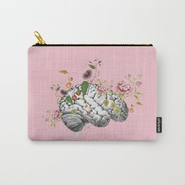 Brain Flowers Collage Carry-All Pouch