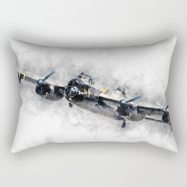 Lancaster Bomber Sketch Rectangular Pillow