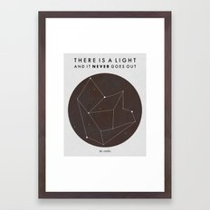 There Is A Light Framed Art Print