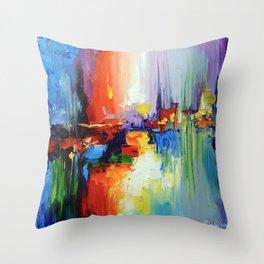 Sound of sunset Throw Pillow