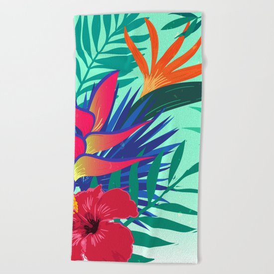 Tropical Pattern 6 Beach Towel