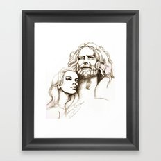 Loving Dreamers Framed Art Print