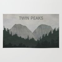 twin peaks Area & Throw Rugs featuring Twin Peaks by avoid peril