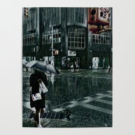 Asterisk/Right Arrow/Rainfall Poster
