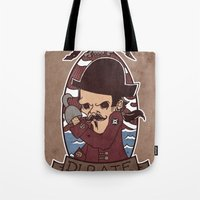 pirate Tote Bags featuring Pirate by Jelot Wisang