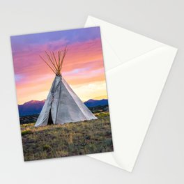Southwest Sunset with Teepee Stationery Cards