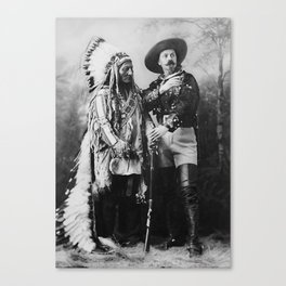 Sitting Bull and Buffalo Bill - 1897 Canvas Print