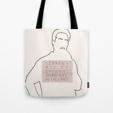 Should I use my invisibility to fight crime or for evil? Tote Bag