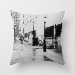 in the streets of Cambridge ... Throw Pillow