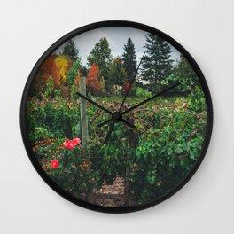 Fall on the Farm Wall Clock