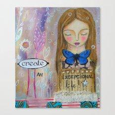 Create an amazing life - motivational art, inspirational art Canvas Print