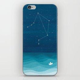 Libra zodiac constellation iPhone Skin