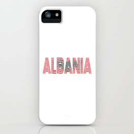 Albanian National Flag Gift Albania Country Vintage Design iPhone Case