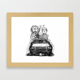To the future! Framed Art Print