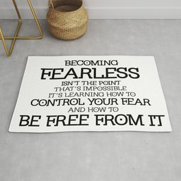 BECOMING FEARLESS - Divergent Rug