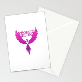 PHOENIX RISING purple with heart center Stationery Cards