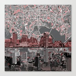 baltimore city skyline abstract Canvas Print