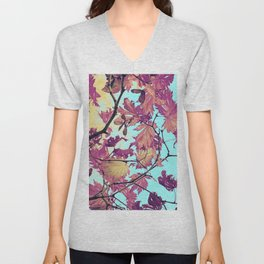 Japanaese Tree with hänging nouses in the Sun Unisex V-Neck
