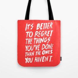 #NOREGRETS Tote Bag