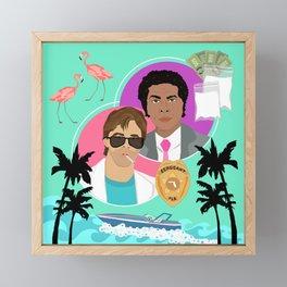 Miami Vice: Crockett and Tubbs Framed Mini Art Print