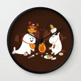 Horn Kabobs Wall Clock