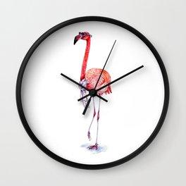 Fashionable  Pink Flamingo Wall Clock