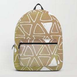 Tribal Watercolours - in Sunset Yellow Backpack
