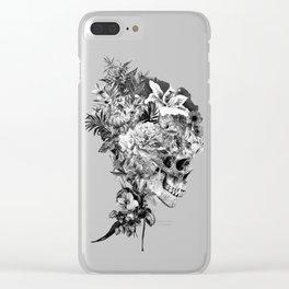 Skull VI BW Clear iPhone Case