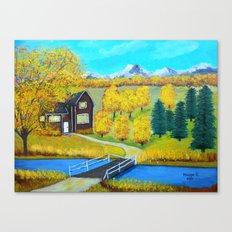 over the wooden bridge  Canvas Print