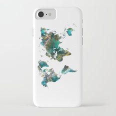 Map of the World tree iPhone 7 Slim Case