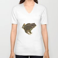 western V-neck T-shirts featuring Western Toad by CJ Hitchcock