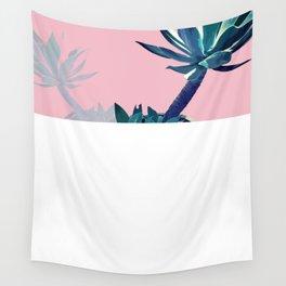 Palm Beach, retro, palm, cactus, sunset, Summer, beach Wall Tapestry