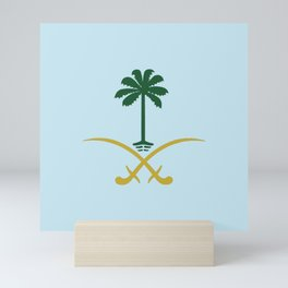 ksa logo saudi arabia logo private sticker shirt iphone case السعودية سيفين ونخلة خاص كفر ايفون جديد Mini Art Print