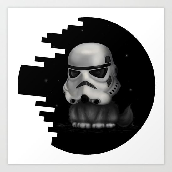 Kitteh Star Trooper Art Print