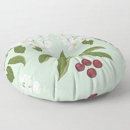 Siberian Crabapple Floor Pillow